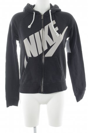 Nike Sweat Jacket dark blue-white printed lettering casual look