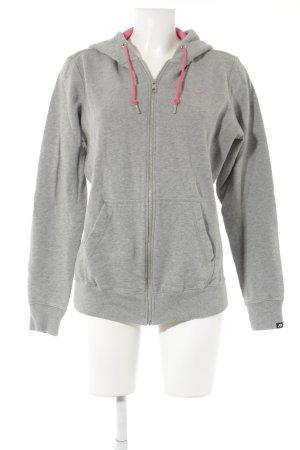 Nike Sweatjacke grau-pink sportlicher Stil