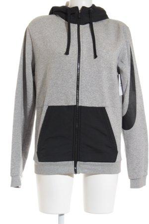 Nike Veste sweat gris clair-noir style décontracté