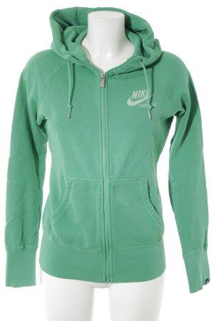 Nike Veste sweat vert clair style athlétique
