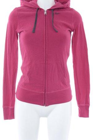 Nike Veste sweat rouge fluo-gris brun style athlétique