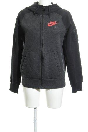 Nike Giacca fitness nero-grigio scuro stile casual