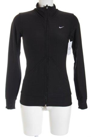 Nike Sweatjack zwart atletische stijl