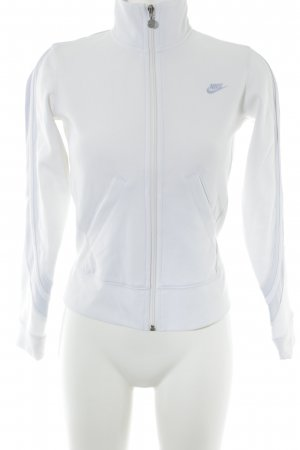 Nike Sweatjacke weiß-babyblau sportlicher Stil