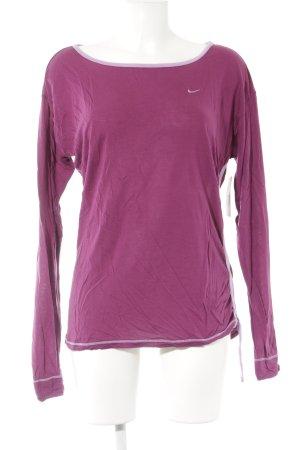 Nike Sweatshirt brombeerrot-blasslila sportlicher Stil