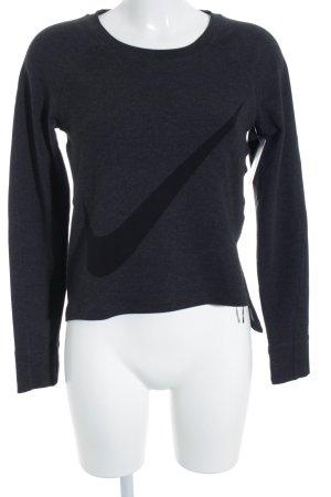 Nike Sweatshirt gris foncé style athlétique