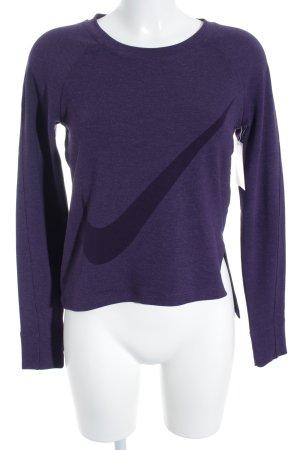 Nike Sweatshirt violet style athlétique