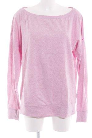 Nike Sweatshirt rosa meliert sportlicher Stil