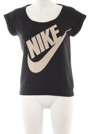 Nike Sweatshirt schwarz-creme sportlicher Stil
