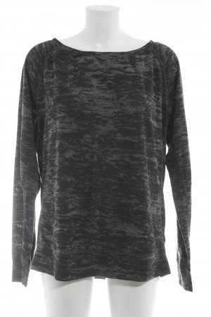 Nike Sweatshirt schwarz-dunkelgrau meliert Casual-Look