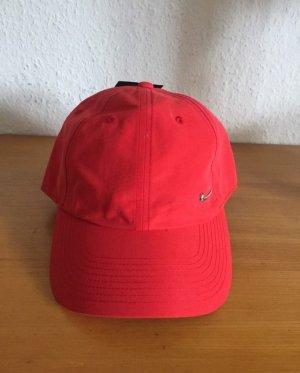 Nike Swoosh Rote Cap Snapback Fivepanel Mütze