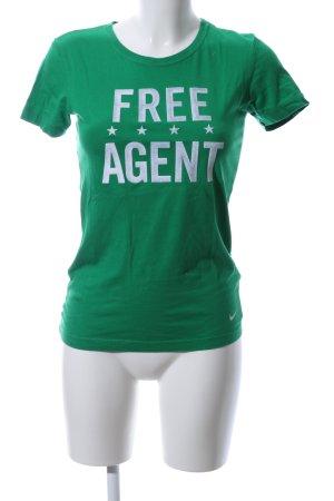 Nike T-shirt vert imprimé avec thème style décontracté