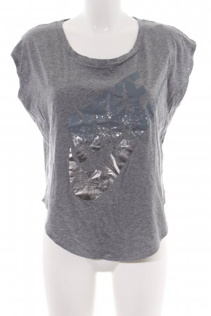 Nike T-Shirt light grey-silver-colored flecked athletic style