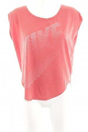 Nike T-Shirt rot Motivdruck Casual-Look