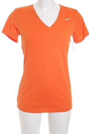 Nike T-Shirt dunkelorange Casual-Look