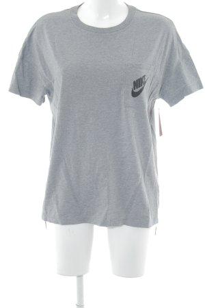 Nike T-Shirt grau schlichter Stil
