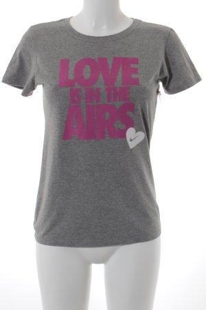 Nike T-shirt gris style athlétique