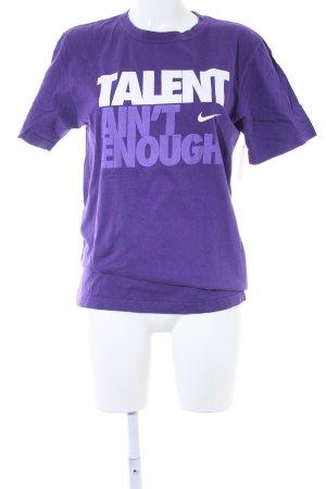 Nike T-Shirt lila sportlicher Stil