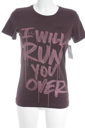 Nike T-Shirt purpur-rosa Schriftzug gedruckt sportlicher Stil