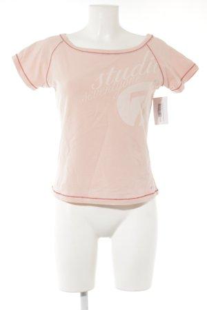 Nike T-Shirt rosé-rot Schriftzug gedruckt sportlicher Stil