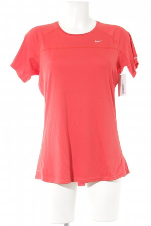 Nike T-Shirt rot-silberfarben sportlicher Stil