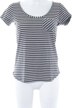 Nike T-Shirt schwarz-grau Streifenmuster sportlicher Stil
