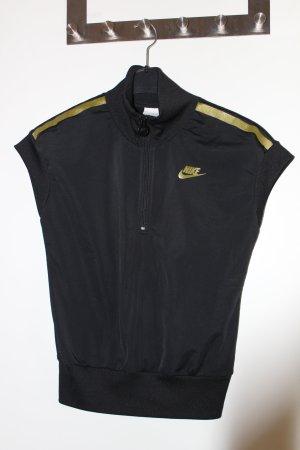 NIKE T-Shirt schwarz mit gold