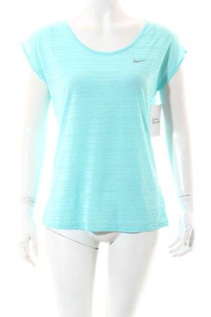 Nike T-Shirt türkis meliert sportlicher Stil
