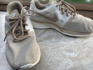 Nike Sneakers met veters wit-licht beige