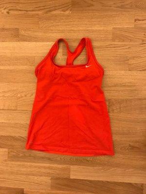 Nike T-shirt de sport rouge-rouge brique coton