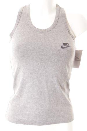 Nike Canotta grigio puntinato stile atletico