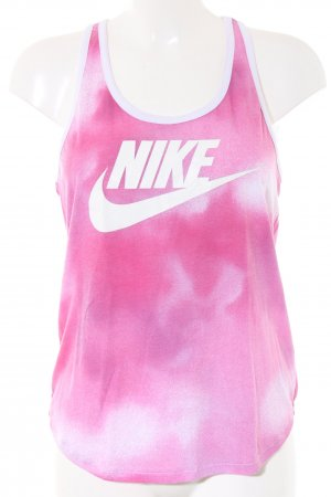 Nike Tanktop pink-weiß Farbverlauf Casual-Look