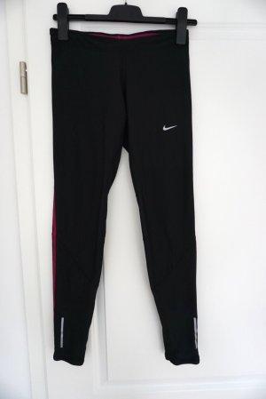 Nike Tech Laufhose dunkelgrau-schwarz Dri Fit Tights Sporthose 36