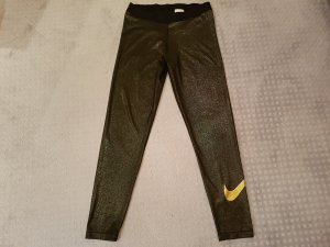Nike Tights / Leggins in gold in Größe XL