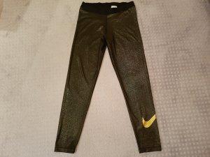 Nike Tights / Leggins in gold in Größe XL