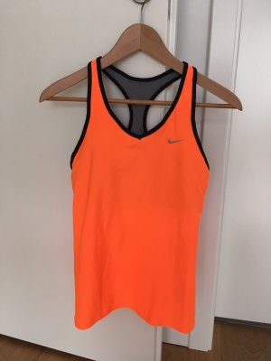 Nike - Top - dry fit - orange/grau - M