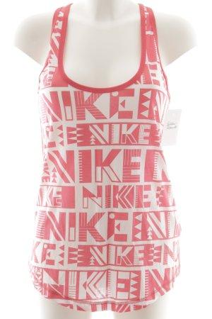 Nike Trägertop pink-weiß Schriftzug gedruckt Casual-Look