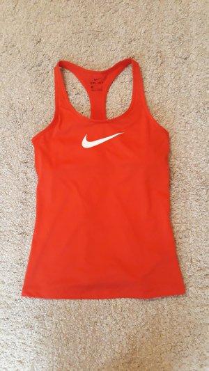 Nike Débardeur de sport rouge polyester