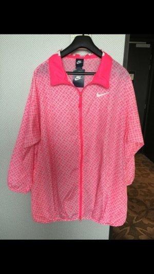 Nike Trainingsjacke pink weiß in Größe L