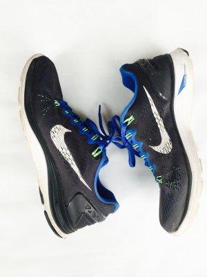 Nike Turnschuh in Gr. 38 1/2, blau - schwarz / Laufschuh