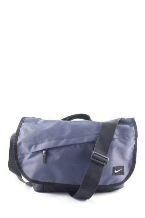 Nike Umhängetasche schwarz-stahlblau sportlicher Stil