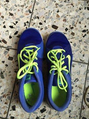 Nike Unpaar Gr40&42 blau neon wie neu