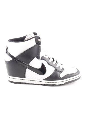 taille 40 45f9c 2698a Nike Basket compensée noir-blanc style décontracté