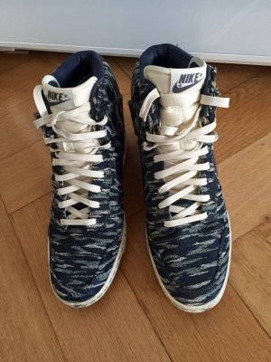 Nike Wedge Sneaker dark blue-white