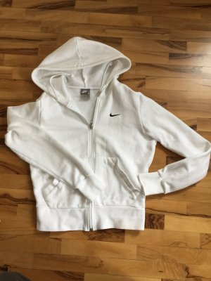 Nike weiße Kapuzenjacke