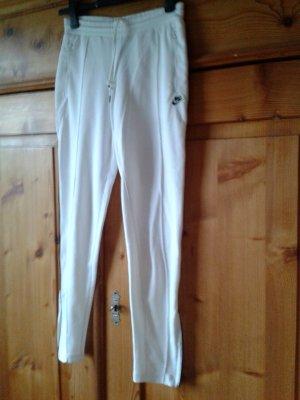 Nike Pantalon de sport blanc polyester