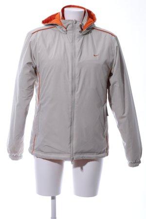 Nike Giacca reversibile arancione chiaro-argento Stampa a tema stile casual