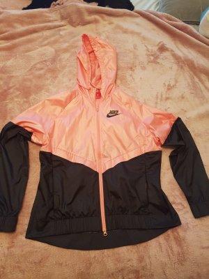 Nike Impermeabile nero-rosa