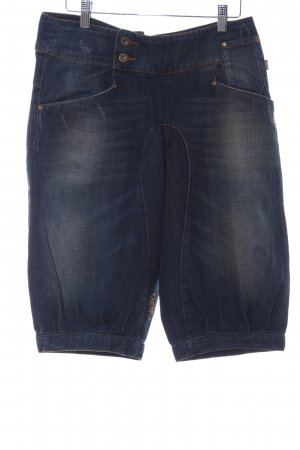 Nikita 3/4 Jeans dunkelblau-camel Boyfriend-Look