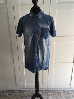 Nikita Chemise en jean bleu pâle-blanc coton